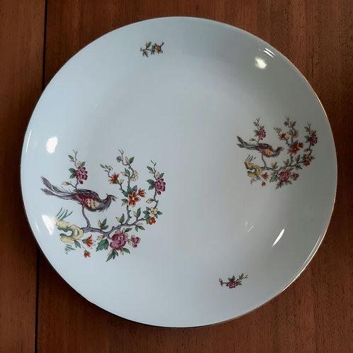 Assiette en porcelaine motif d'inspiration asiatique