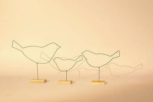 Oiseau sur socle Moyen modèle