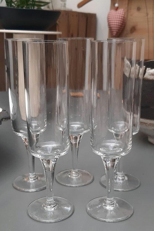 5 flûtes à Champagne