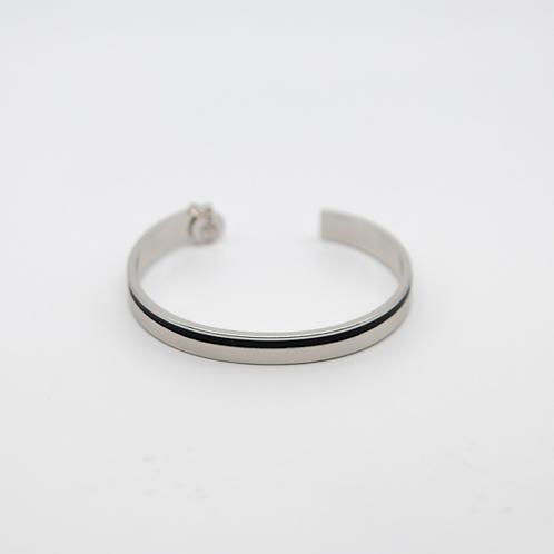 Bracelet jonc SARAH argenté