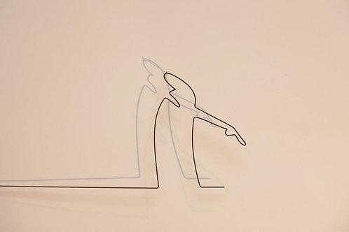 Personnage la linéa d ' Osvaldo Cavendoli, décoration murale fil de fer