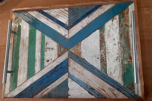 Plateau bleu, blanc et vert