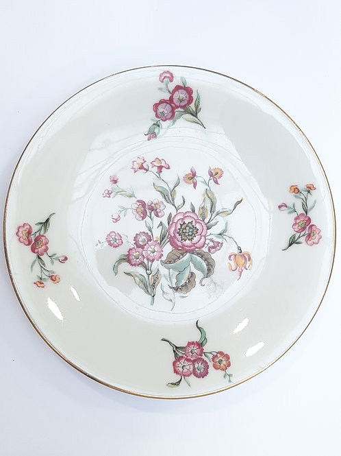 Assiette à dessert motif fleuri