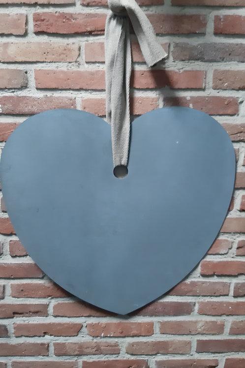 Grand cœur ardoise