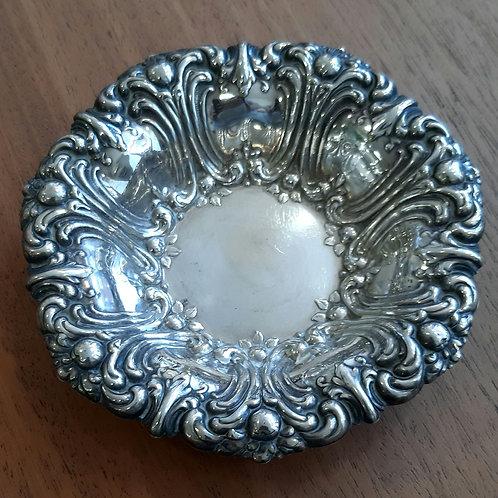Coupelle en métal argenté