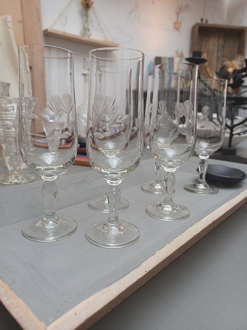 Série de 6 flûtes à champagne