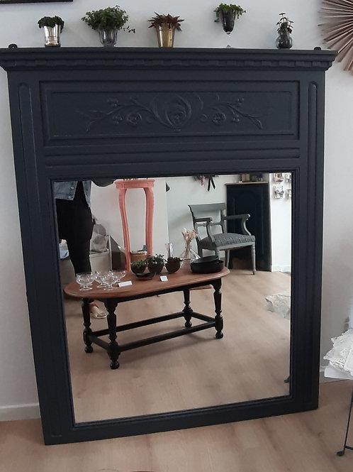 Grand miroir gris