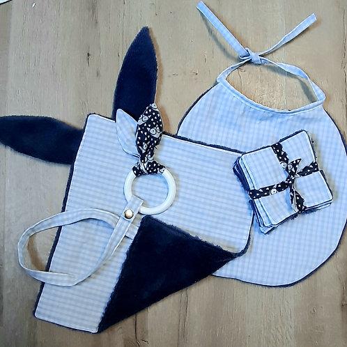Set naissance bleu et blanc