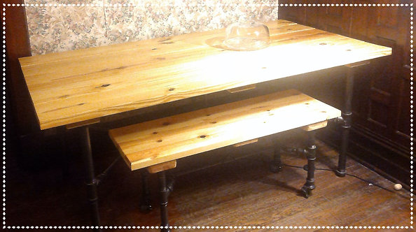 Iron & Pine Dining Table