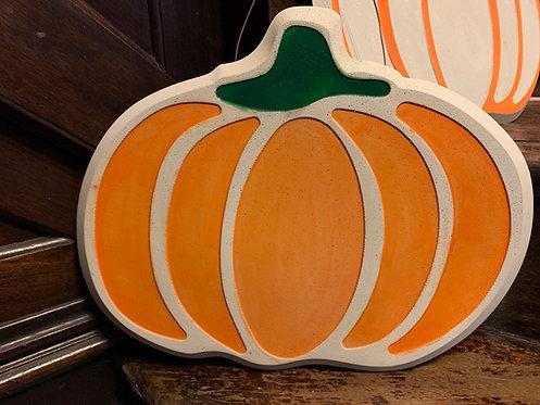 Pumpkin Plaque Concrete Casting
