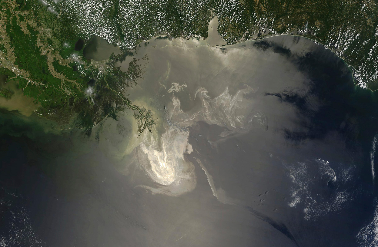 View from Space of oil spill