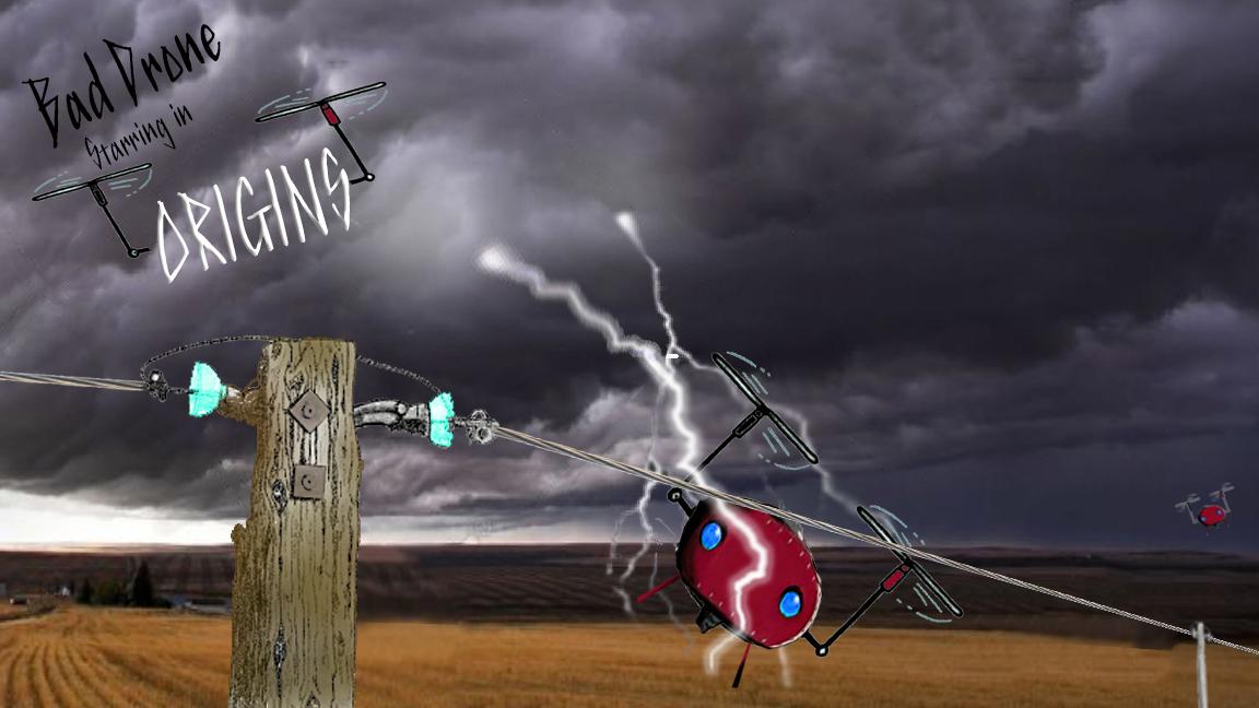 Bad Drone ORIGINS Poster concept
