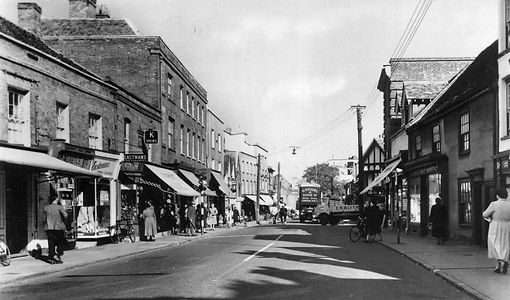 Newland St Witham before shopping precinct was built.