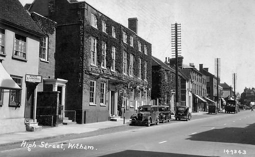 View of Battesford court just after WWII