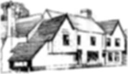 Line drawing of Freebourne House, Witham.