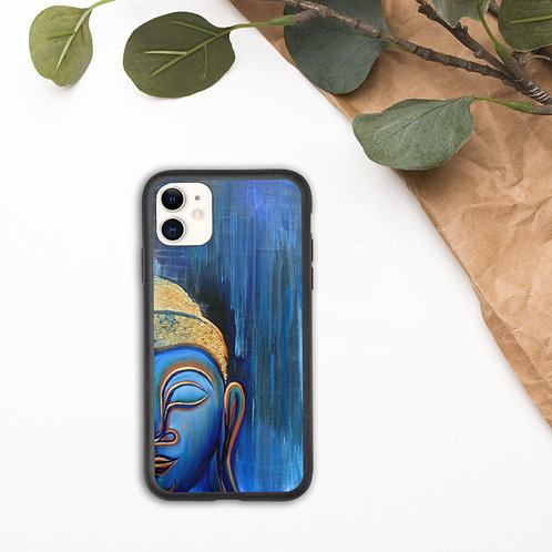 Smiling Buddha In The Rain Biodegradable iPhone Case