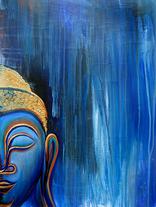 Smiling Buddha in the Rain