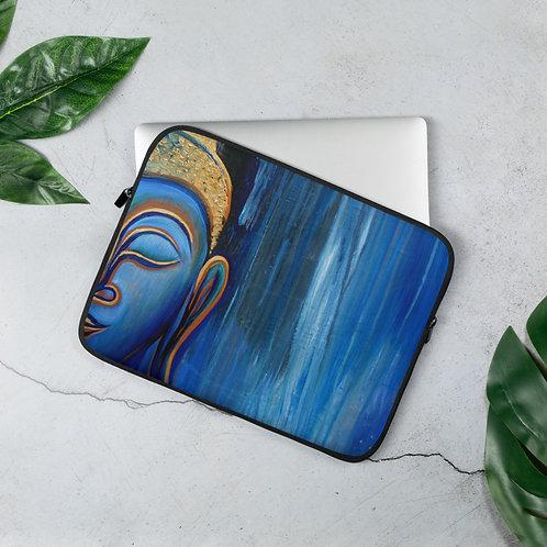 Smiling Buddha In The Rain Laptop Sleeve
