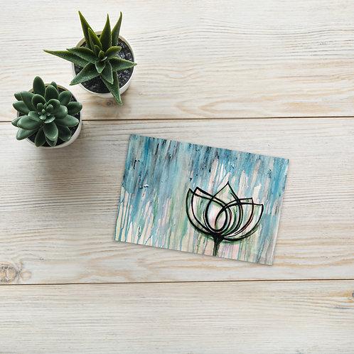 Lotus Tattoo Postcard