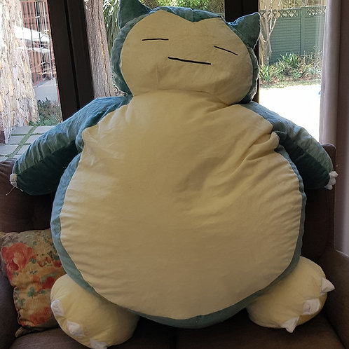 Snorlax bean bag with stuffing