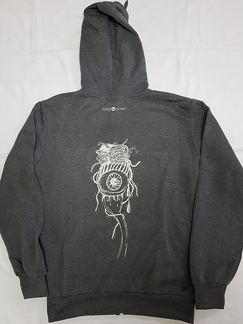 Grey eyeball hoodie