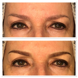 Brow touch ups.