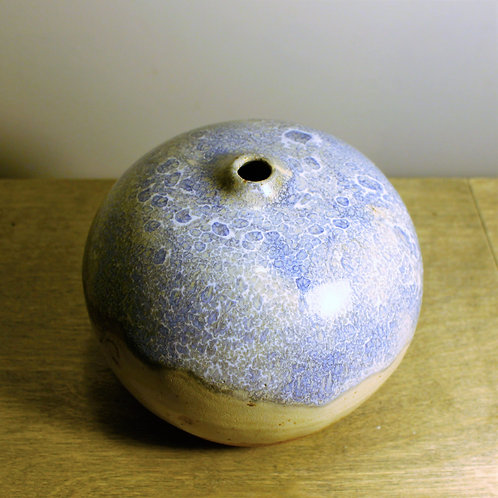 Large Blue Bubble Vase
