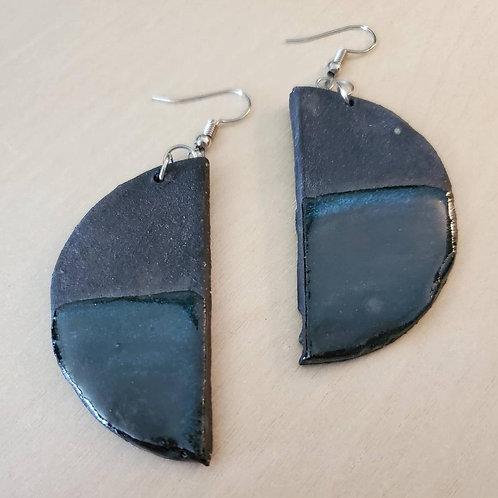 Geometric Blue Earrings