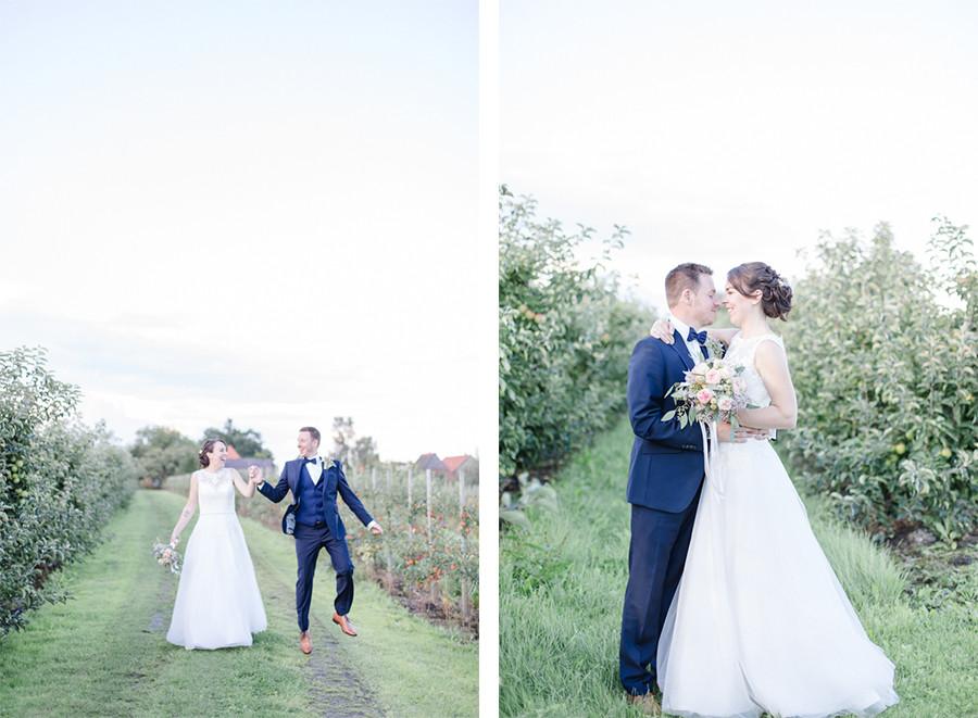 Hochzeitsfotos im Alten Land auf dem Obsthof Schuback