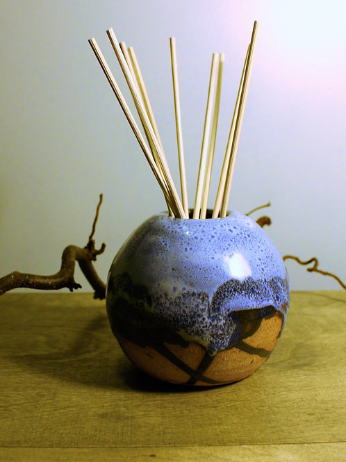 Blue Oil Diffuser Vase