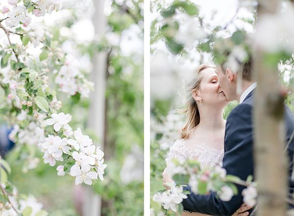 Hochzeitsfotos zur Apfelblüte