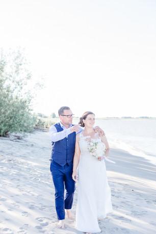 Hochzeitsfotos am Elbstrand