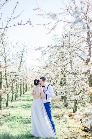 Brautpaarfotos zur Kirschblüte