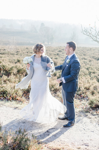 Hochzeitsfotos in der Heide