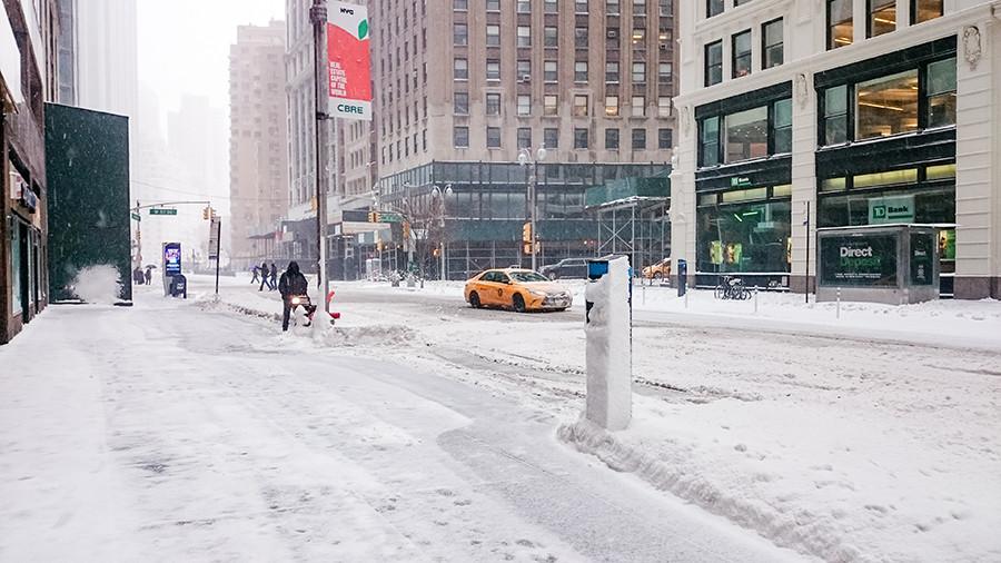 Schneechaos 2017 in New York