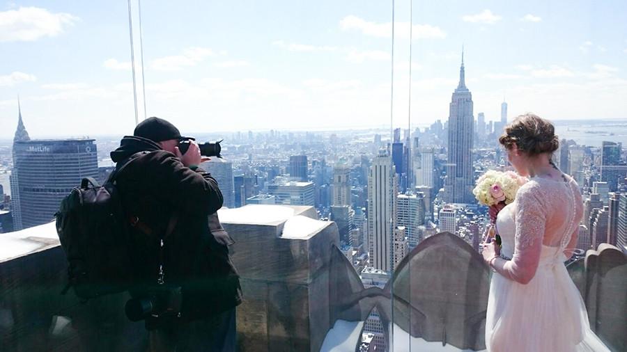 Sascha Reinking in Aktion in New York