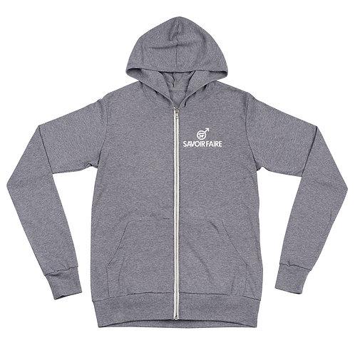 Savoir Faire Unisex zip hoodie