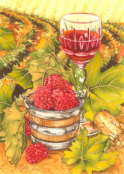 Raspberries and Port