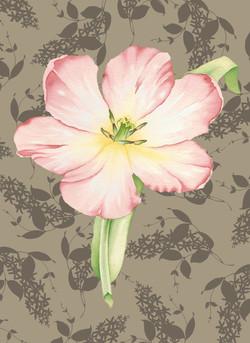 Open Tulip on Lilacs #42