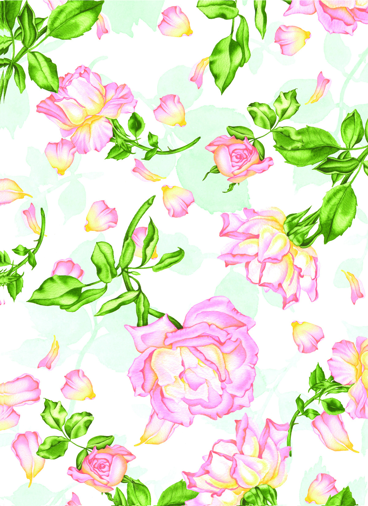 Strewn Roses #62