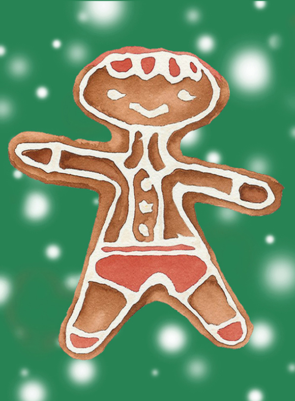 Gingerbread Man ( green ) #105