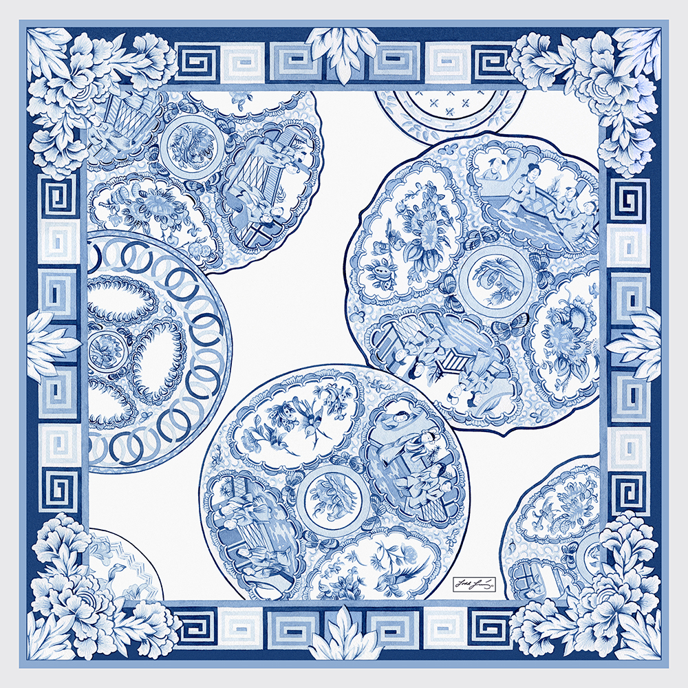 Chinese Plates Scarf