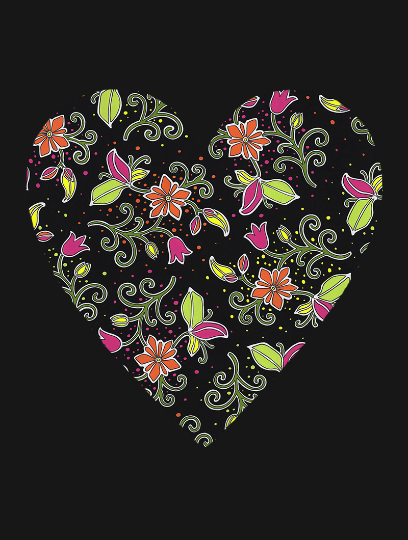Flourescent Love with black #161