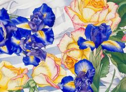 Roses and Irises vignette #70
