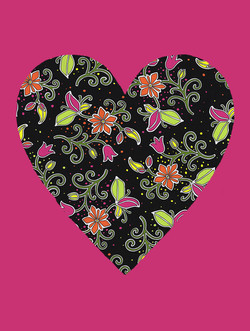 Flourescent Love with pink #160