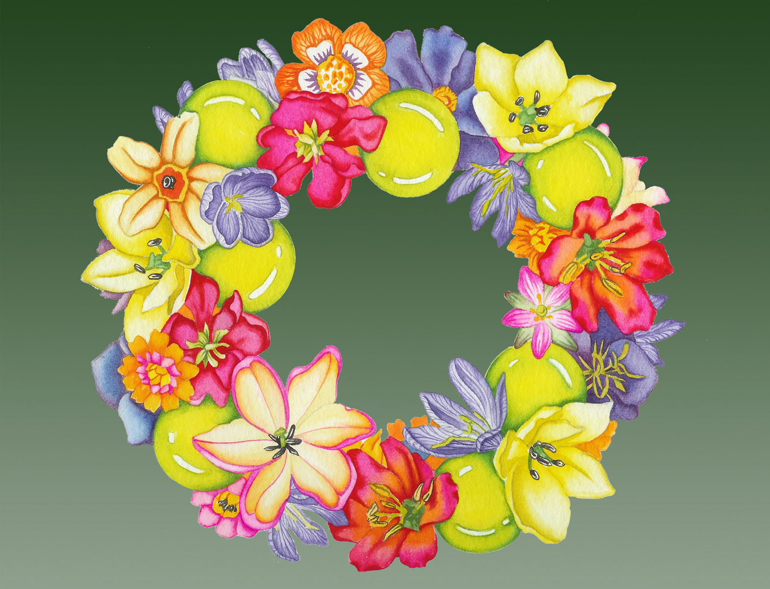 Floral Wreath #30