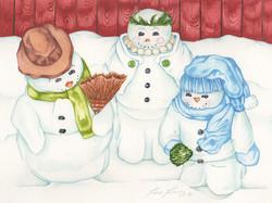 Snowman Family #178