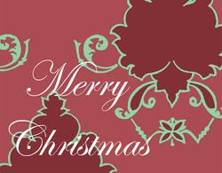 Merry Christmas holiday damask #131