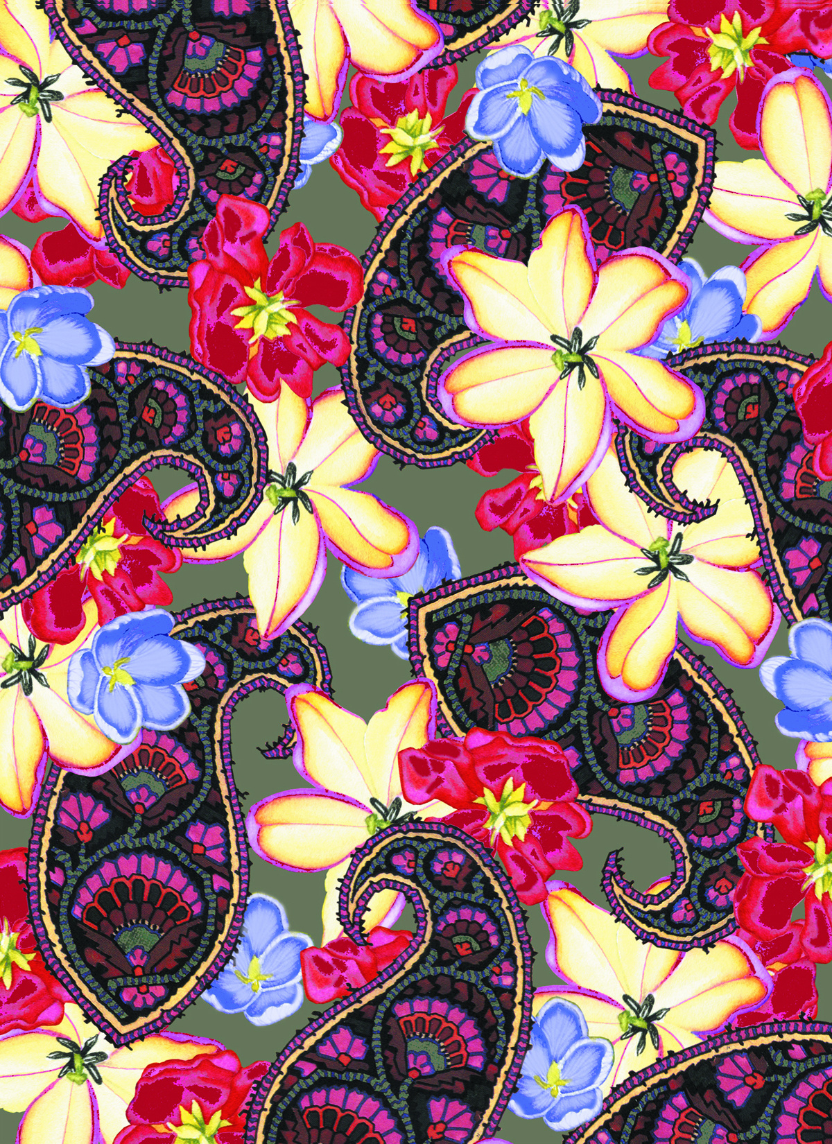 Paisley Floral #60
