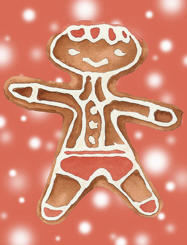 Gingerbread Man ( red ) #104